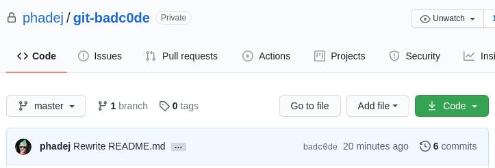 first GitHub screenshot
